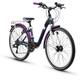 s'cool chiX 24 21-S - Vélo enfant - alloy violet/noir